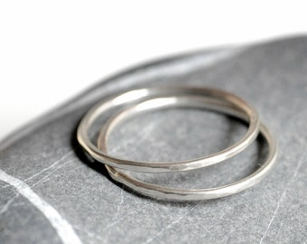 Sterling silver rings - TWO stacking rings - Made To Order