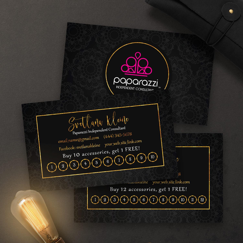 Paparazzi Punch Cards Free Personalized Paparazzi Jewelry