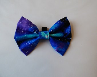 Bear's Galaxy Dog Bow Tie