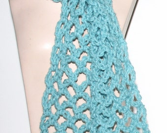 Lacy Crochet Scarf Pattern Light Airy 3 Sizes Easy Pattern Simple Guide included - use your favorite size hook yarn weight by Stitcherydoo