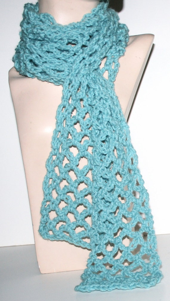 Lacy Crochet Scarf Pattern Light Airy 3 Sizes Easy Pattern Simple