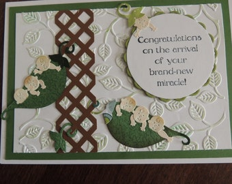 Handmade Hand Stamped Baby Card