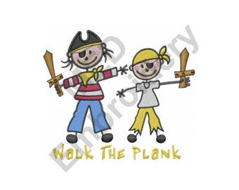 Pirates - Machine Embroidery Design, Walk the Plank