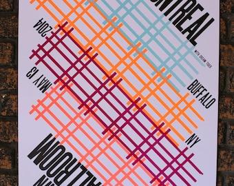 of Montreal 2014 Letterpress Gig Poster