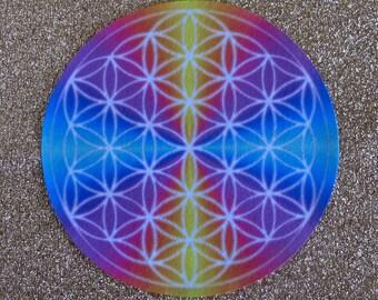 Flower of Life Altar Cloth Mandala Crystal Grid