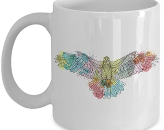 Watercolour Eagle Coffee Mug | Gift | Gift For Her | Coffee Mug | Eagle | Eagle Scout | Bald Eagle | Eagle Gift | Eagle Head | Eagle Svg
