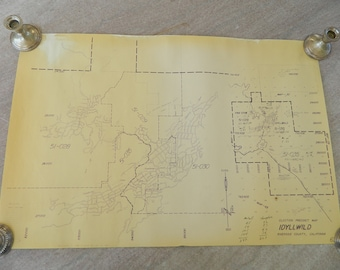1963 Southern California Idyllwild Election Precinct Map (20in/30in)