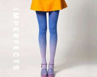 IMPERFECT, Ombré Tights in Moonbeam