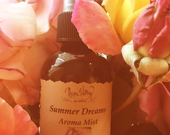 Summer Dreams Aroma Mist in 2oz glass amber bottle