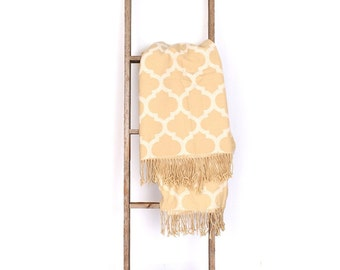 Blanket Ladder, Decorative Ladder, Wood Ladder, Rustic Ladder, Wooden Ladder, Towel Ladder, Quilt Ladder (Multiple Sizes & Colors Available)