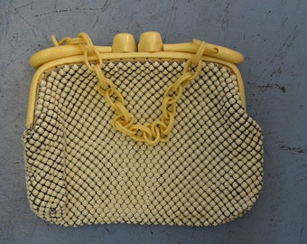 1940s Vintage Whiting & Davis Co, Alumesh Bag
