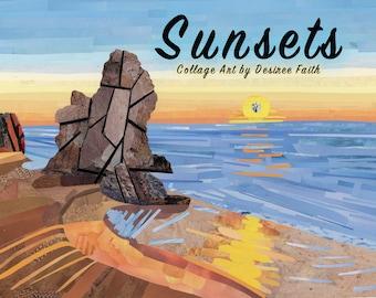 2018 Sunsets Calendar - Magazine Collage Art