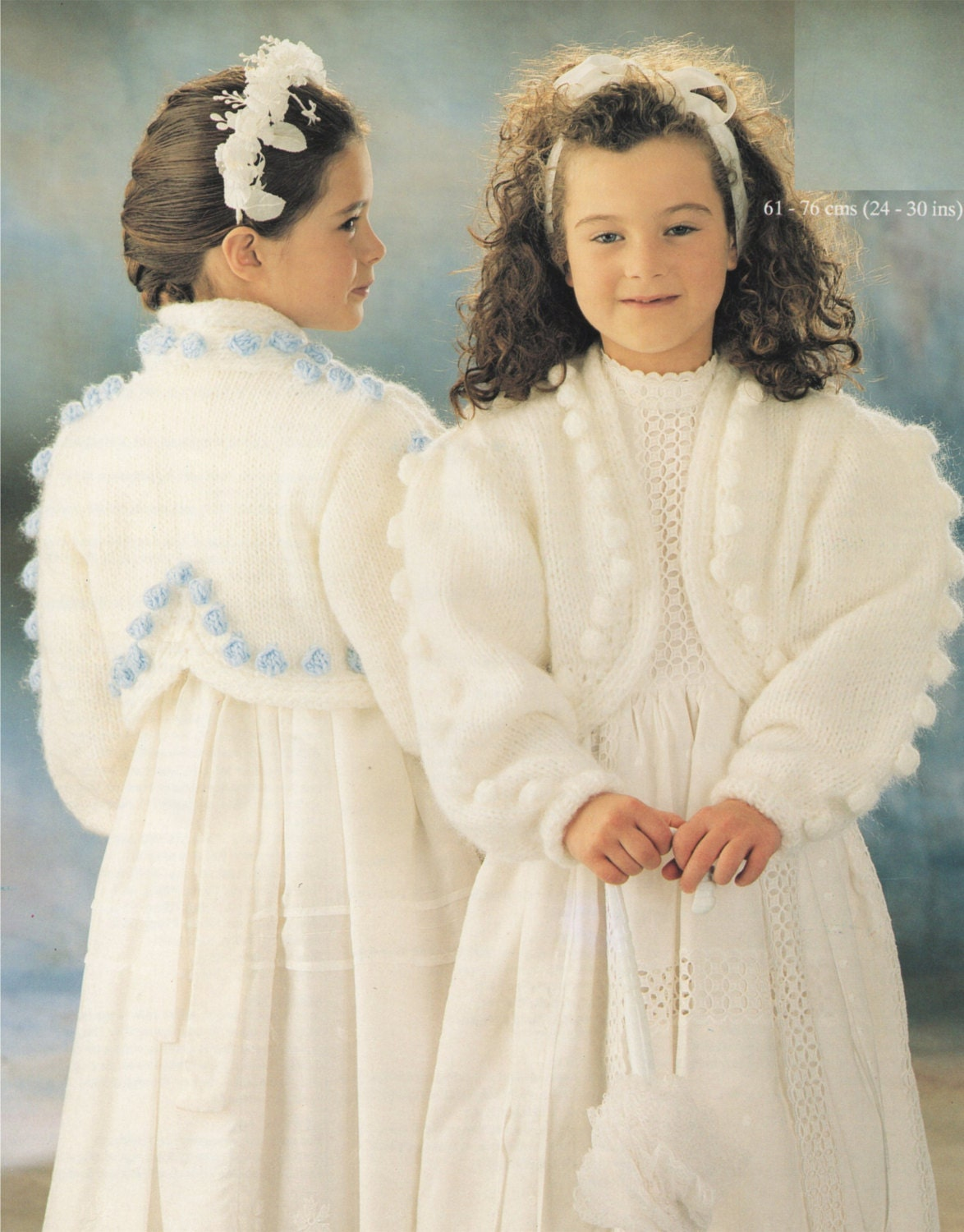 Girls Bolero PDF Knitting Pattern : Childrens 24 - 26, 26 - 28 and ...