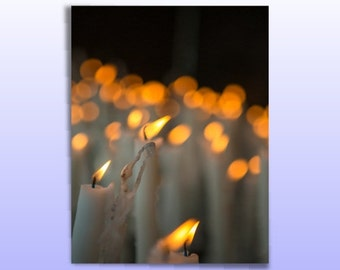 Set of 10 Lit A Candle Cards, Catholic Cards. Religious Cards, I lit a Candle for You