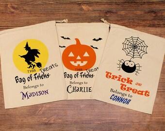 CLEARANCE Halloween Sack - Halloween Bag - Trick-or-treat bag - Halloween Sack - Embroidered Halloween Bag - Halloween Gift - Idea