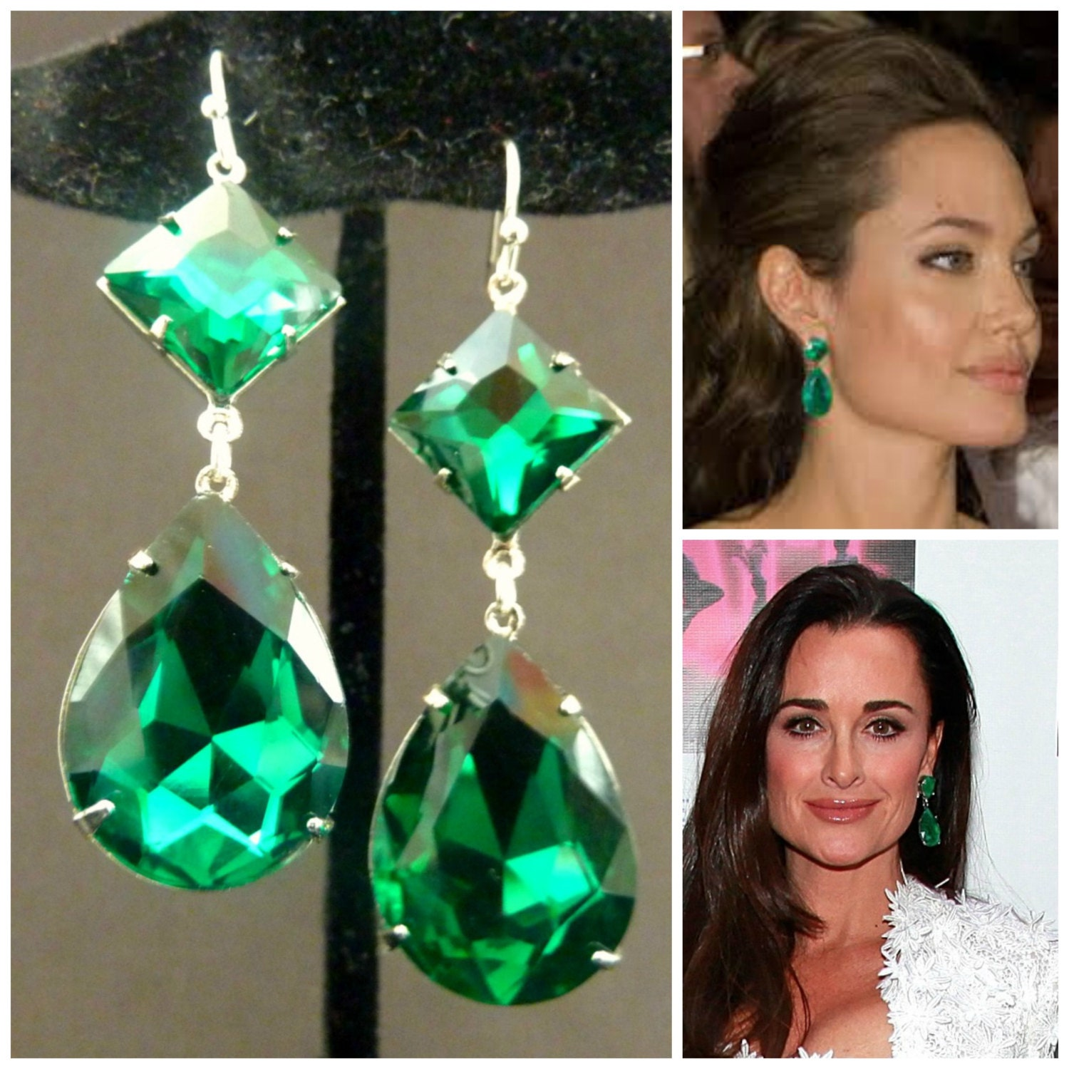 earrings inc brilliant img green e emerald dora