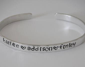 Custom 5mm Sterling Silver Cuff Bracelet