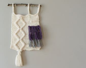 "DIY Knitting PATTERN - Cable Knit Wall Hanging  Size: 9"" x 29"" (2015016)"