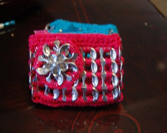 1x coin zipper crochett purse