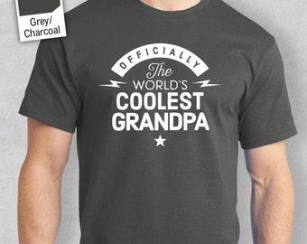 Cool Grandpa, World's Most Coolest Grandpa T-shirt, Personalized Grandpa Gift. Birthday Gift For Grandpa! Grandpa Gift, Grandpa T-Shirt!