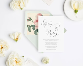 Wedding Invitation Sample - The Greta Suite, Botanical Collection