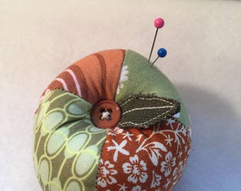 Green and Rust Apple Pin Cushion