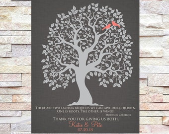Parents Gift, Grooms Parents, Brides Parents, Wedding Thank You Gift, Mother of the Groom, Mother of the Bride, Wedding Tree
