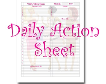 One Page per Day Planner Page and Note Page for 8.5X11 planner. It is both functional and fashionable.