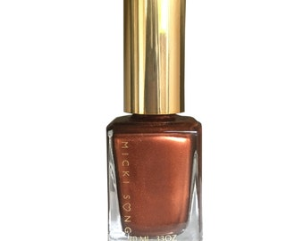Coppa-Feel-Metallic Copper Nail Polish, Nails, Nail Lacquer, Full Coverage Nail Polish