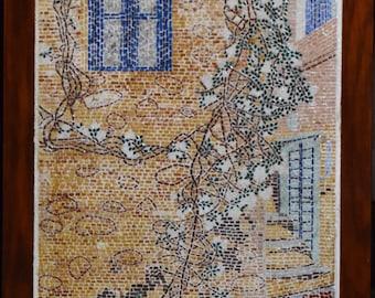 Greek Island Mosaic Wall Art