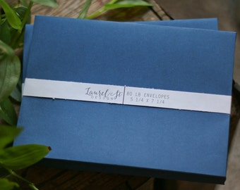 "NAVY A7 Envelopes  ~ Invitation Envelope ~ Size 5 1/4"" x 7 1/4"" ~ qty 25"