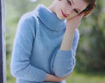 Knit Sweater Pattern - 1960's Vintage Pattern, Women's Sweater PDF Pattern 2815