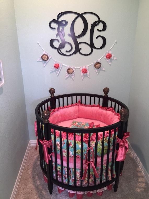 Round Crib Part - 21: Round Crib Bedding,Round Crib Sets For Girls, Round Baby Bedding, Love  Bliss Crib Sets, Round Baby Girl Bedding, Round Crib Bedding Sets