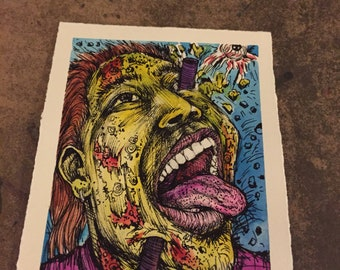 ORIGINAL Zombie Mini Drawing Eye Pop Zombie