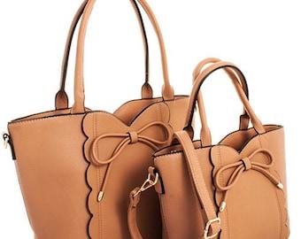 Scallop Monogram Purse | Bow Tie Purse| Monogram Bag | Personalized Bag | Personalized Tote | Monogrammed Tote | Bridesmaids Gift