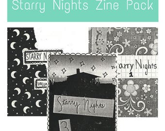 Starry Nights Zine Pack - 3 Perzines About Creativity, Music, and Inspiration containing lists stories and creative writing