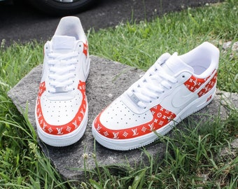 New Nike Air Force 1 Louis Vuitton LV Sneakers