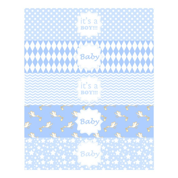 Baby Shower Thank You Tags Instant Download Printable Stickers Or