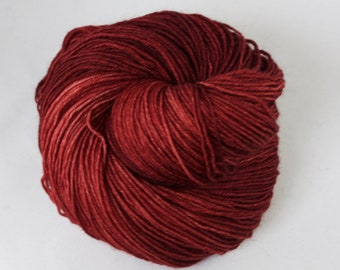 Hand Dyed Sock Yarn, hand dyed wool, variegated sock yarn, nylon sock yarn, red