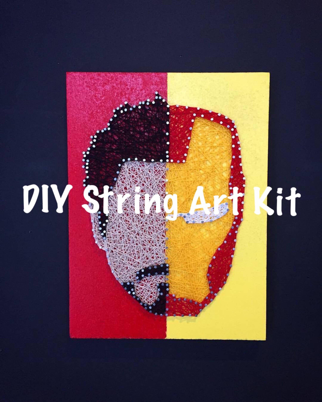 DIY Iron Man String Art Kit Tony Stark Thread Art How To