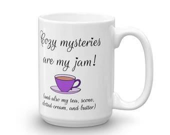 Cozy Mysteries mug, made in the USA