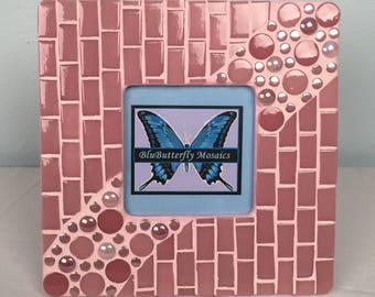 Pretty~n~Pink Mosaic Picture Frame