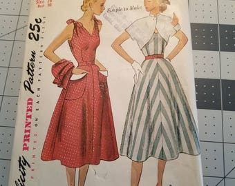 Simplicity 3490 Dress with Bolero Bust 32