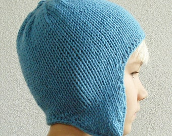 Knitting PATTERN - Earflap Hat for Children