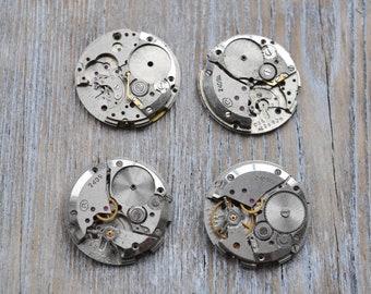 VOSTOK 0.9 inch Set of 4 vintage wrist watch movements.