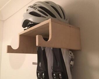 Great Handmade Birch Ply Wooden Bike Rack, Wall Mounted Hook, Bike Shelf Designed  For Simple