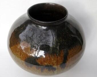 Round Brown Vase.