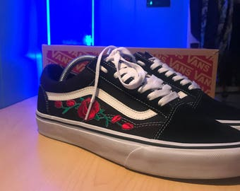 Red rose patch vans