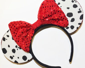 Dalmation Deville Inspired Mouse Ears