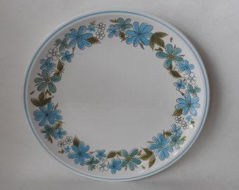 Large Mikasa Cera Stone Blue Floral Serving Plate
